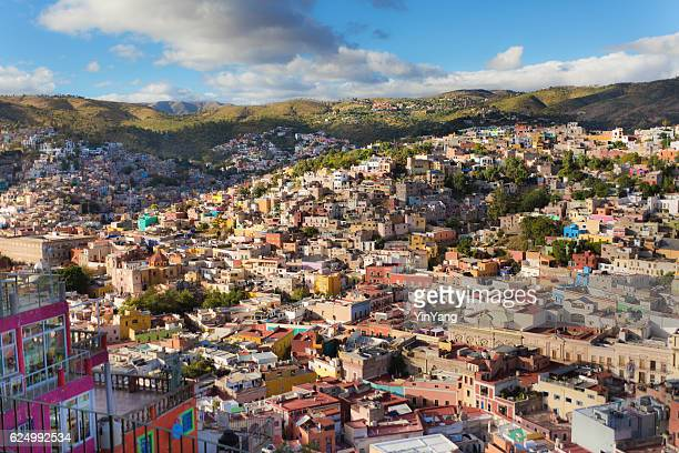 Skyline of the city of Guanajuato in central Mexico