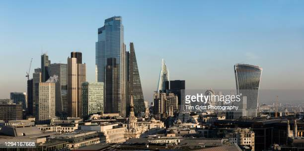 skyline of the city of london - economic stimulus stock pictures, royalty-free photos & images