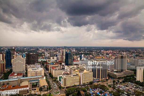 Skyline of the city of Nairobi, Kenya (Africa)