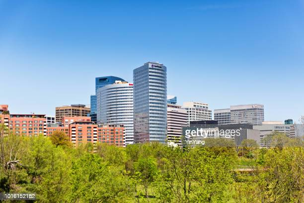 Skyline of the City of Reston, Virginia, USA