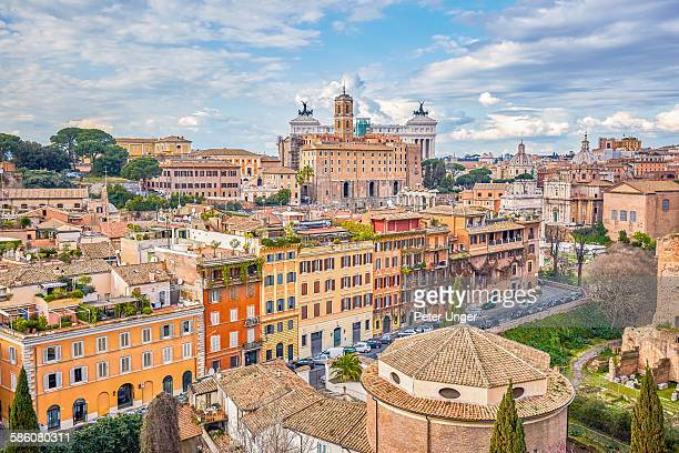 Skyline of the city of Rome,Italy