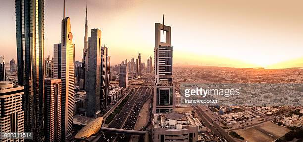 skyline of the Dubai downtown