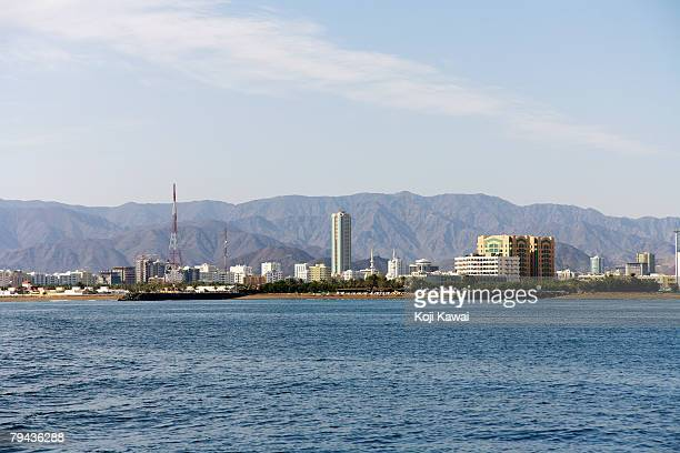 Skyline of the growing Fujairah's town which helps make up the United Arab Emirates.