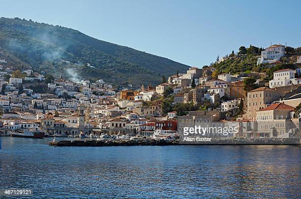 Skyline of the port of Hydra Town
