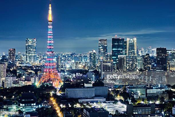 Skyline of Tokyo, Japan with the Tokyo Tower