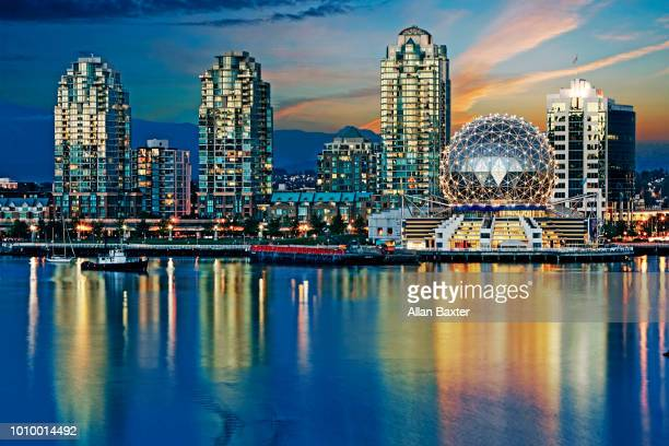 Skyline of Vancouver with the Teluspere science centre