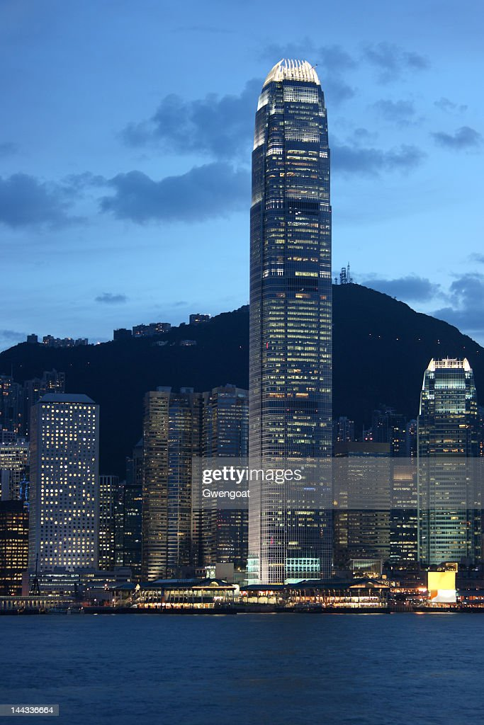 Skyline of Victoria Harbour in Hong Kong : Stock Photo