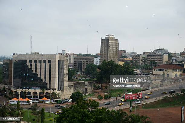 Skyline of Yaounde, Capital of Cameroons, on March 13, 2015 in Yaounde, Cameroons.