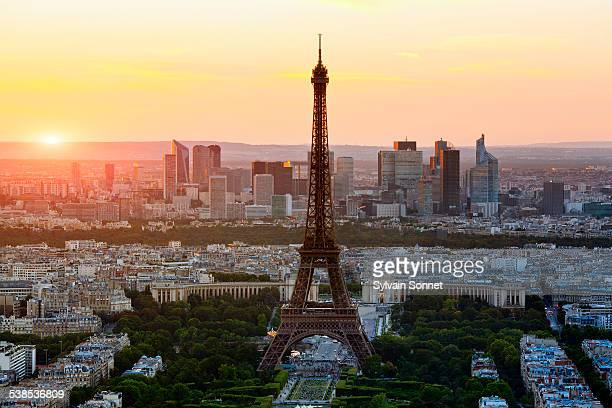 Skyline on Paris with Eiffel Tower