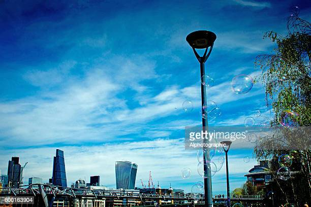 Skyline over the Thames in London