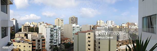 skyline panorama of lima, peru - markus daniel stock pictures, royalty-free photos & images