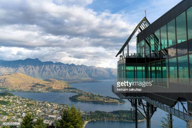skyline park and a view of queenstown, new zealand. - queenstown stock pictures, royalty-free photos & images