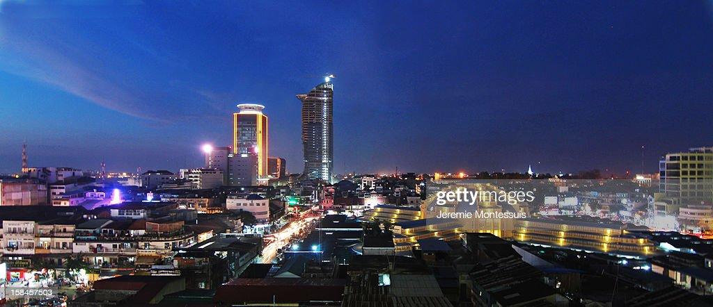 Skyline Phnom Penh, Cambodia : Stock Photo