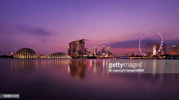 skyline - marina bay sands - fotografias e filmes do acervo
