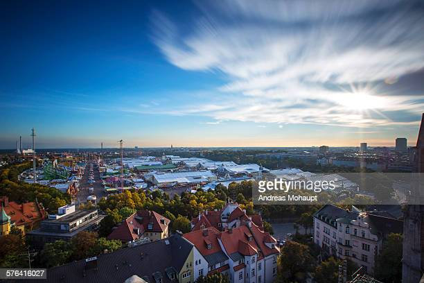 skyline - theresienwiese stock pictures, royalty-free photos & images