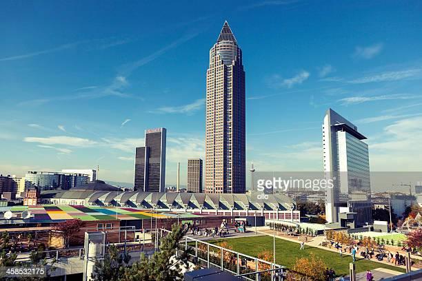 Plaza, die Skyline von Frankfurt