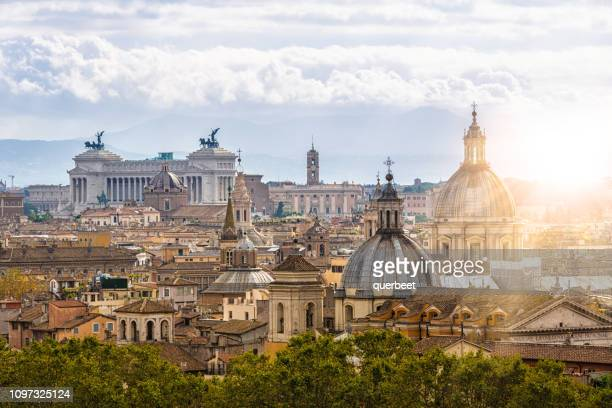 skyline rome - place of worship stock pictures, royalty-free photos & images