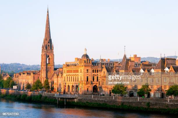skyline, st matthews church of scotland, perth, scotland - international landmark stock pictures, royalty-free photos & images
