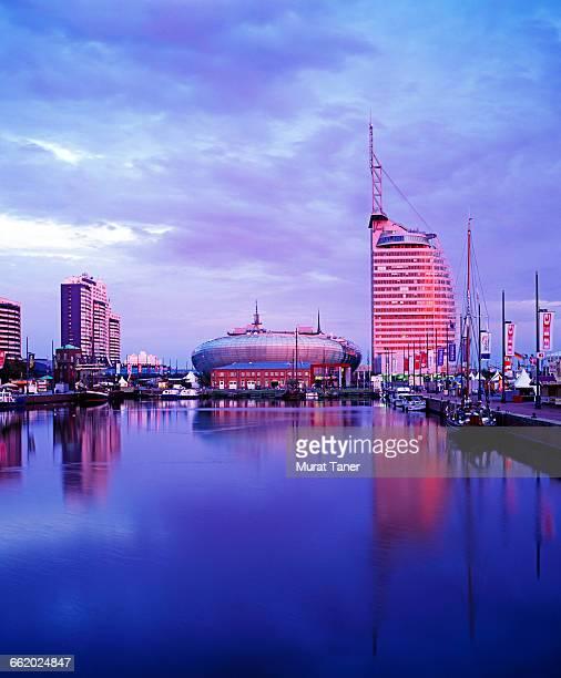 Skyline view of Bremerhaven