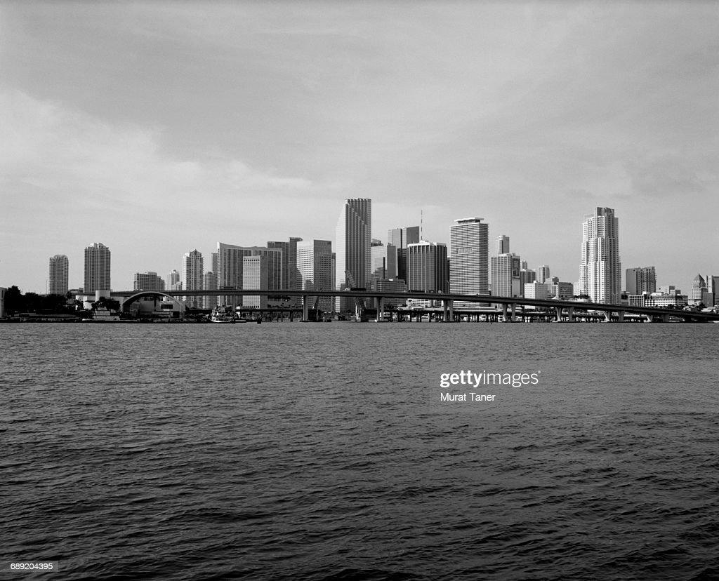 Skyline view of Miami : Stock Photo