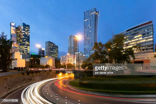 skyline, warsaw, poland - warsaw stock pictures, royalty-free photos & images