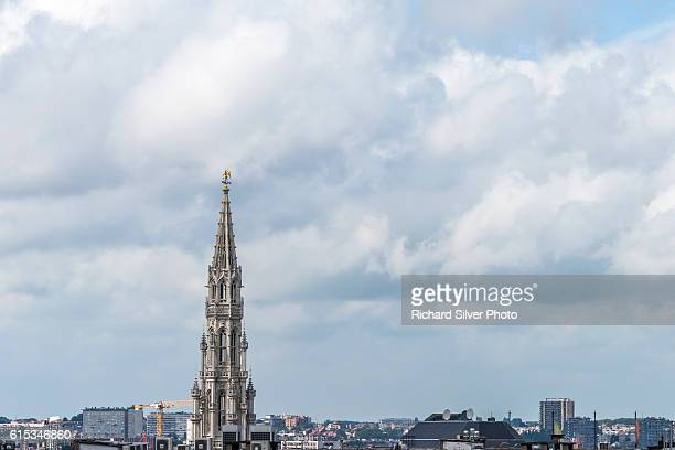 Skyline with Cathedral in Brussels, Belgium