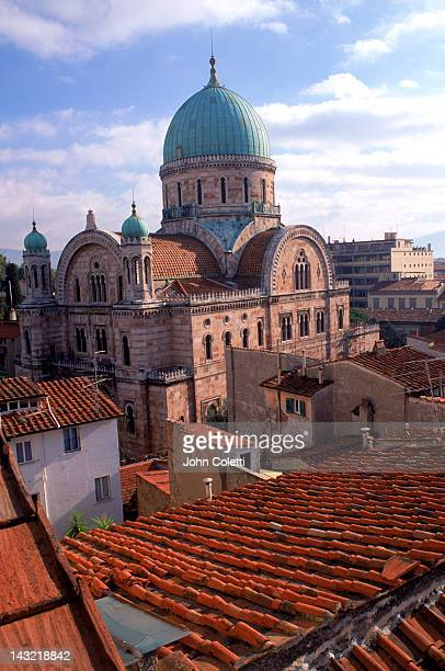 skyline with church, florence, italy - renaissance stock pictures, royalty-free photos & images