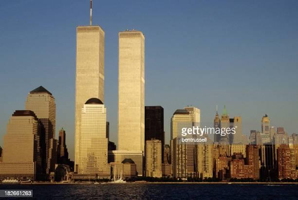 Skyline von New York City mit der Twin Towers