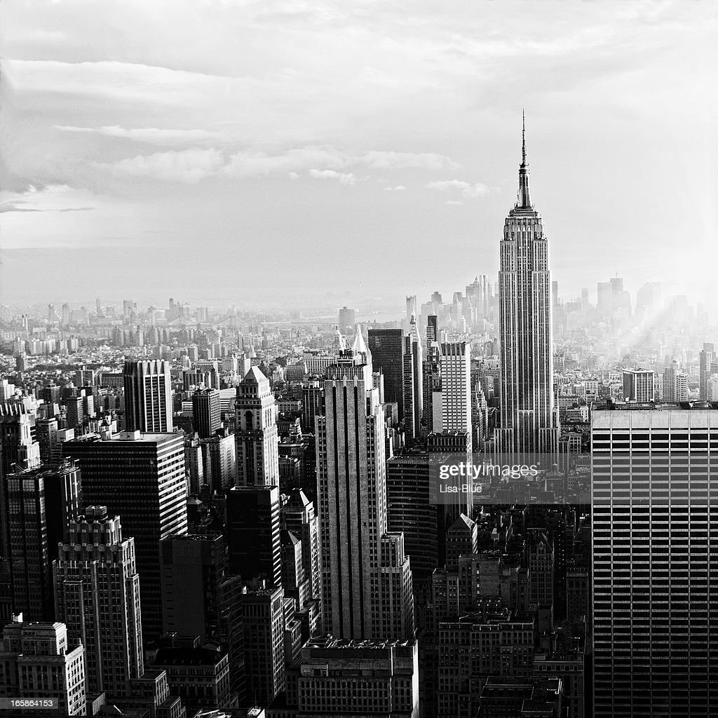 NYC Skyline.Black And White : Stock Photo