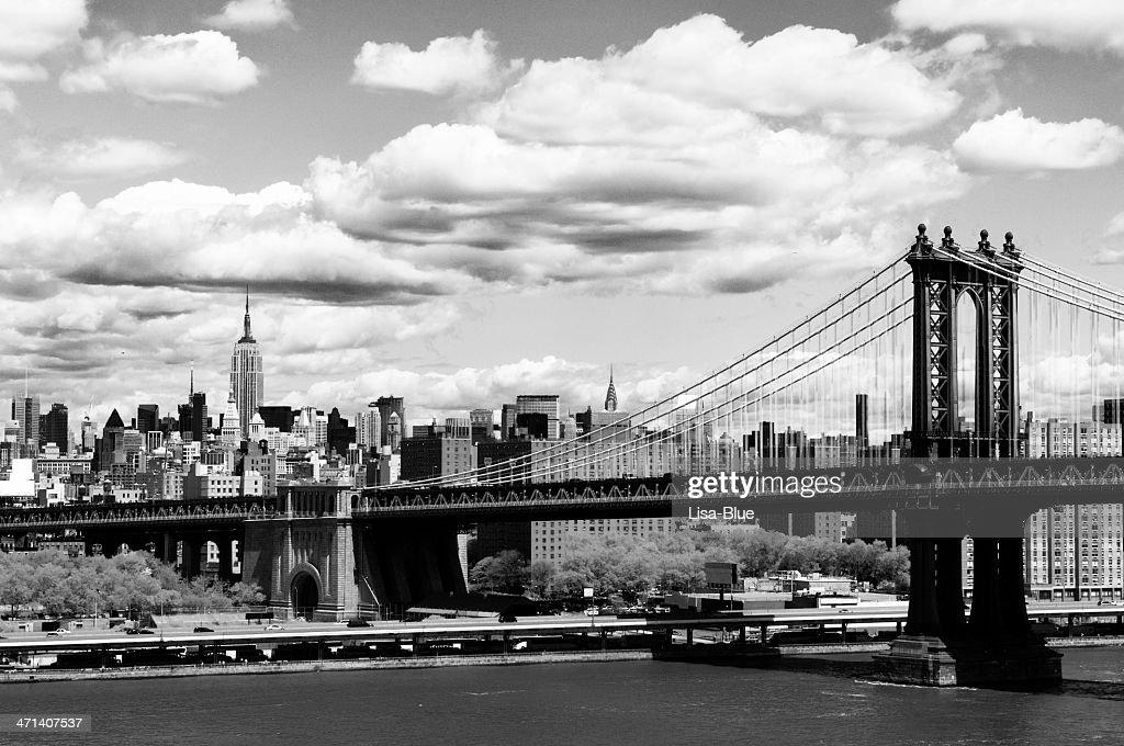 NYC Skyline.Black und weiß. : Stock-Foto