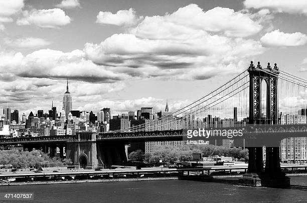 skyline.black la ciudad de nueva york y blanco. - brooklyn nueva york fotografías e imágenes de stock