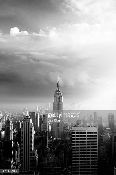 NYC Skyline.Black And White.
