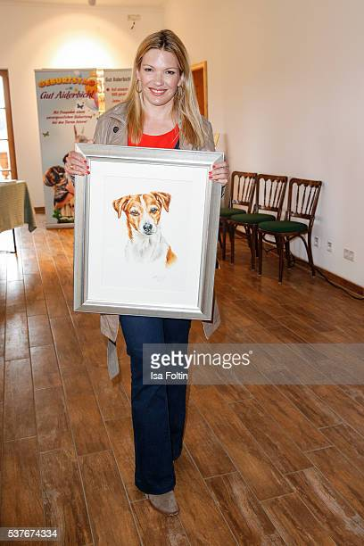 SkyModerator Jessica Kastrop as the New VDHAmbassador for dogs 2016 during the 'HelpingVets' Award For Animal Welfare Projects At Gut Aiderbichl on...