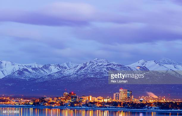 sky's the limit - chugach mountains stock pictures, royalty-free photos & images