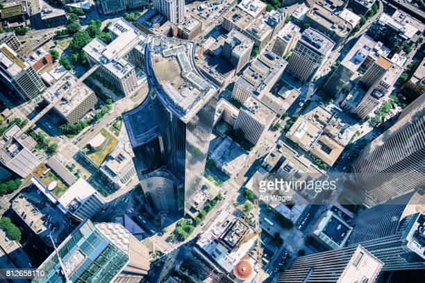 Antenne der Wolkenkratzer von Downtown Seattle