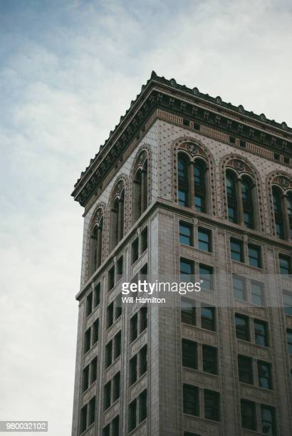 skyscraper against sky, birmingham, alabama, usa - birmingham alabama stock pictures, royalty-free photos & images