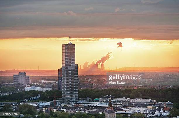 Skyscraper and power station in Cologne