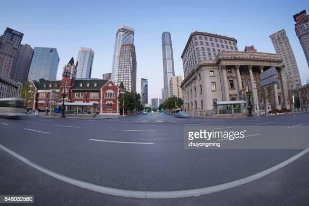 Skyscraper and urban road
