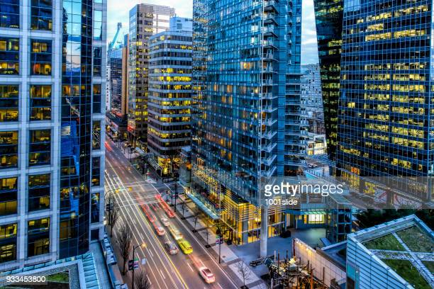 skyscraper at vancouver - vancouver canada stock pictures, royalty-free photos & images