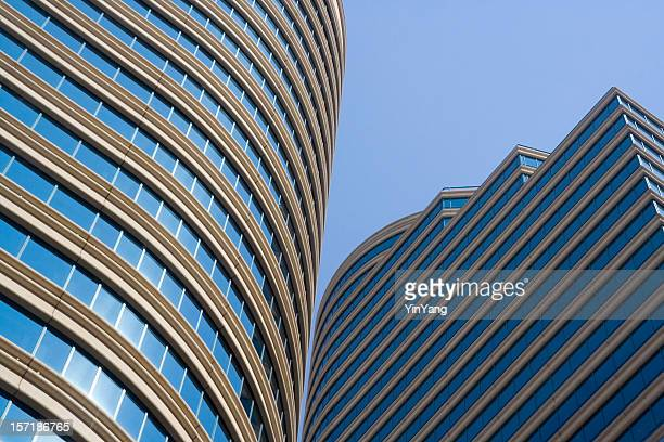 高層ビルの外観の現代的なオフィスビルの構造、ミネアポリスた - 商業不動産 ストックフォトと画像