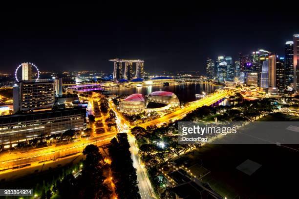 Skyscraper Buildings of Singapore City at Marina Bay, Singapore
