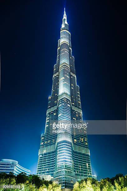 skyscraper burj khalifa, dubai - burj khalifa stock photos and pictures