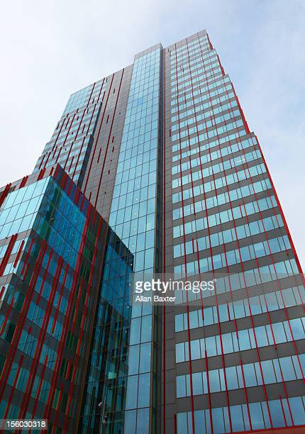 skyscraper in almere - almere stock pictures, royalty-free photos & images