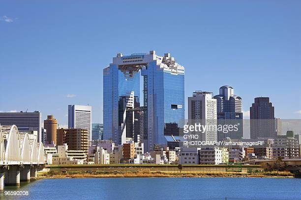 A skyscraper in Yodogawa, Osaka, Japan