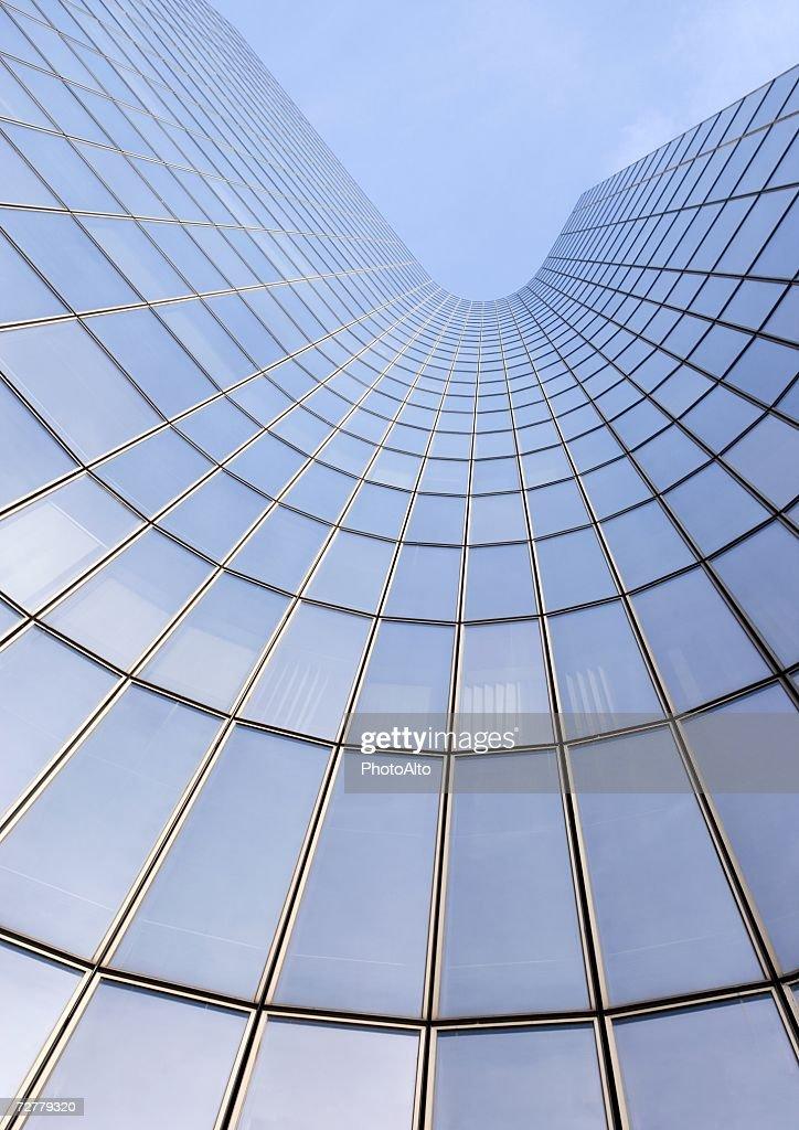 Skyscraper, low angle, abstract view : Bildbanksbilder