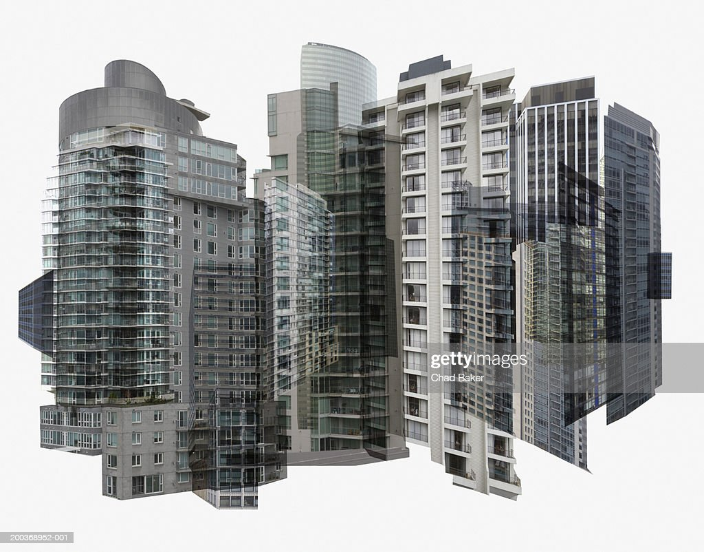 Skyscraper montage (Digital Composite) : Stock Photo