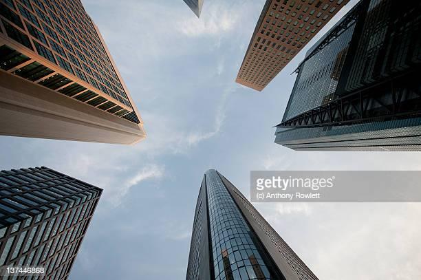 Skyscrapers against sky in Tokyo