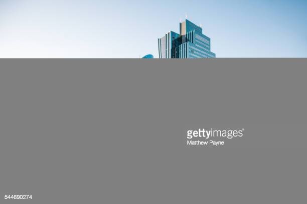 skyscrapers along nurzhol bulvar in downtown astana, kazakhstan - kazakhstan stock pictures, royalty-free photos & images