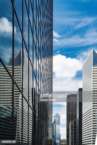 Skyscrapers and Reflections of downtown Chicago, Illinois