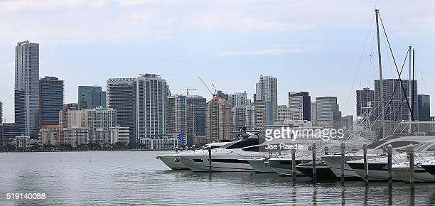 Skyscrapers and residential buildings line the beach April 4 2016 in Miami Florida A report by the International Consortium of Investigative...